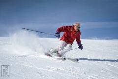 sciatore presso ski area sitas