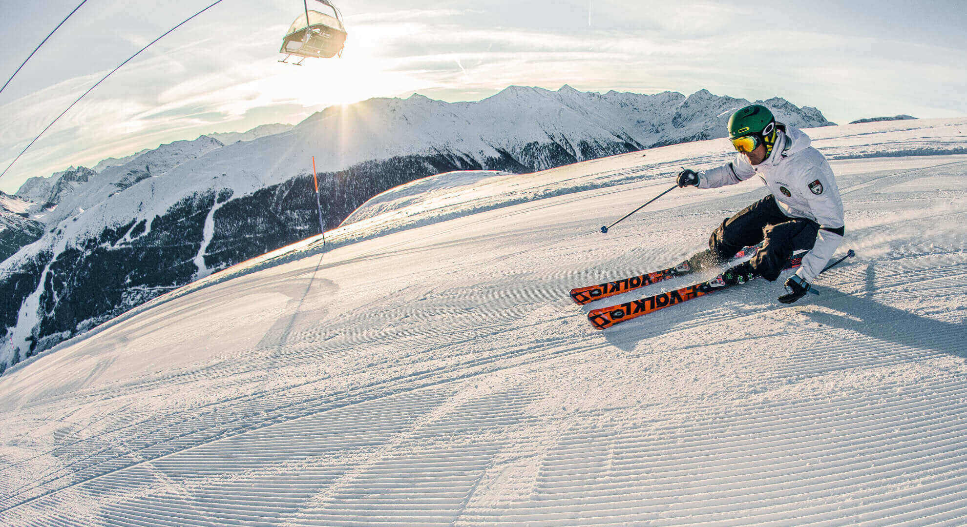 panorama ski area sitas con sciatore